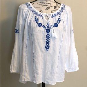 Cotton Long Sleeve Blouse